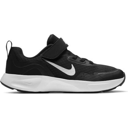 Nike WearAllDay Sneaker Kinder - BLACK/WHITE - Größe 1Y