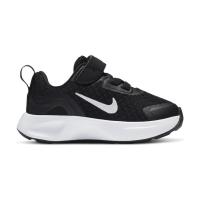Nike WearAllDay Sneaker Kinder - BLACK/WHITE - Größe 6C