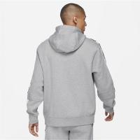 Nike Sportswear Mens Fleece Pullover Hoodie - DK GREY HEATHER/WHITE - Größe XL