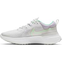 Nike React Miler 2 Laufschuhe Damen - PLATINUM TINT/GREEN GLOW-WHITE - Größe 7,5