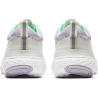 Nike React Miler 2 Laufschuhe Damen - PLATINUM TINT/GREEN GLOW-WHITE - Größe 9