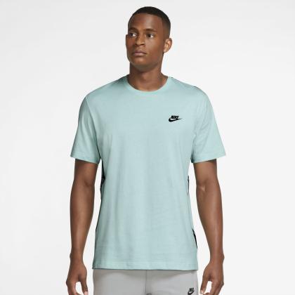 Nike Sportswear Mens Top - LIGHT DEW/BLACK - Größe M