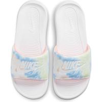 Nike Victori One Badesandale Damen - WHITE/WHITE-BRIGHT MANGO-SAPPHIRE - Größe 6