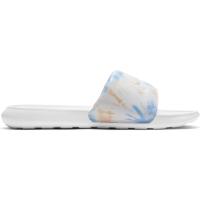 Nike Victori One Badesandale Damen - WHITE/WHITE-BRIGHT MANGO-SAPPHIRE - Größe 7