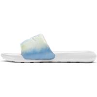 Nike Victori One Badesandale Damen - WHITE/WHITE-BRIGHT MANGO-SAPPHIRE - Größe 9