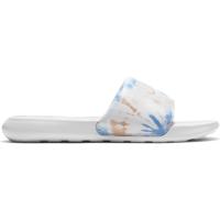 Nike Victori One Badesandale Damen - WHITE/WHITE-BRIGHT MANGO-SAPPHIRE - Größe 10