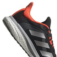 adidas Solar Glide ST 4 M Runningschuhe Herren - CBLACK/GRETWO/SOLRED - Größe 12
