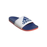 adidas Adilette Comfort Badesandalen Herren - FTWWHT/ROYBLU/SOLRED - Größe 10