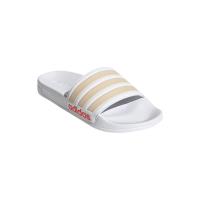 adidas Adilette Shower Badesandalen Damen - FTWWHT/HALBLU/SOLRED - Größe 7