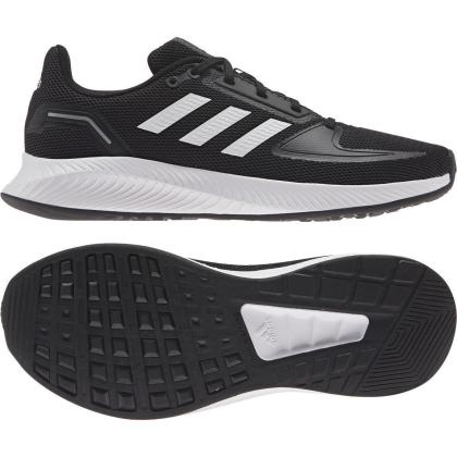 adidas Runfalcon 2.0 Sneaker Kinder - CBLACK/FTWWHT/GRESIX - Größe 6