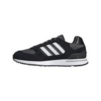 adidas Run 80s Sneaker Herren - CBLACK/FTWWHT/GRESIX - Größe 10