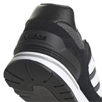adidas Run 80s Sneaker Herren - CBLACK/FTWWHT/GRESIX - Größe 10-