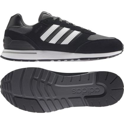 adidas Run 80s Sneaker Herren - CBLACK/FTWWHT/GRESIX - Größe 11-