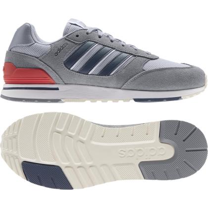 adidas Run 80s Sneaker Herren - GREY/CRENAV/HALSIL - Größe 10-