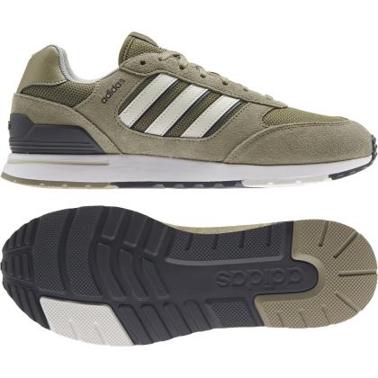 adidas Run 80s Sneaker Herren - ORBGRN/ORBGRY/FOCOLI - Größe 10-