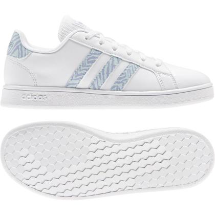 adidas Grand Court K Sneaker Kinder - FTWWHT/FTWWHT/VISMET - Größe 3