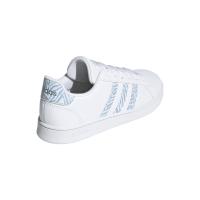 adidas Grand Court K Sneaker Kinder - FTWWHT/FTWWHT/VISMET - Größe 4
