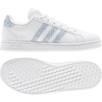 adidas Grand Court K Sneaker Kinder - FTWWHT/FTWWHT/VISMET - Größe 4-