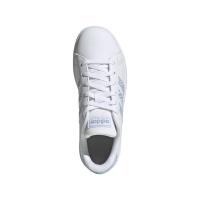 adidas Grand Court K Sneaker Kinder - FTWWHT/FTWWHT/VISMET - Größe 5-