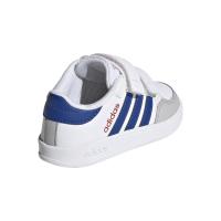 adidas Breaknet I Sneaker Kinder - FTWWHT/ROYBLU/VIVRED - Größe 23