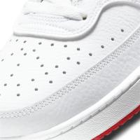 Nike Court Vision Low Sneaker Herren - WHITE/UNIVERSITY RED - Größe 10