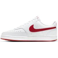 Nike Court Vision Low Sneaker Herren - WHITE/UNIVERSITY RED - Größe 11.5