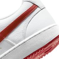 Nike Court Vision Low Sneaker Herren - WHITE/UNIVERSITY RED - Größe 9