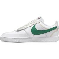 Nike Court Vision Low Premium Sneaker Herren - WHITE/GREEN NOISE-SUMMIT WHITE-SAIL - Größe 10