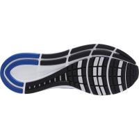 Nike Air Zoom Structure 24 Runningschuhe Herren - WHITE/HYPER ROYAL-PURE PLATINUM-BLA - Größe 12