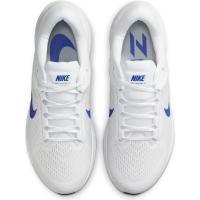 Nike Air Zoom Structure 24 Runningschuhe Herren - WHITE/HYPER ROYAL-PURE PLATINUM-BLA - Größe 12.5