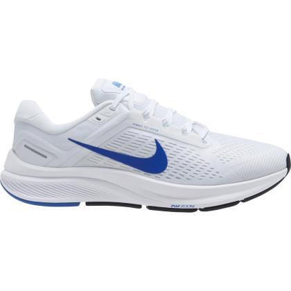 Nike Air Zoom Structure 24 Runningschuhe Herren - WHITE/HYPER ROYAL-PURE PLATINUM-BLA - Größe 8.5