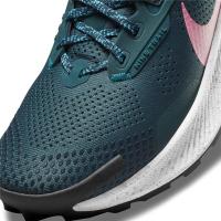 Nike Pegasus Trail 3 Runningschuhe Damen - DARK TEAL GREEN/PINK GLOW-ARMORY NA - Größe 7