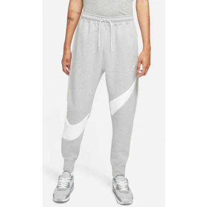 Nike Sportswear Swoosh Tech Fleece - DK GREY HEATHER/WHITE/WHITE - Größe XL
