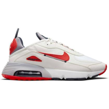 Nike Air Max 2090 Sneaker Herren - SUMMIT WHITE/CHILE RED-CEMENT GREY - Größe 9